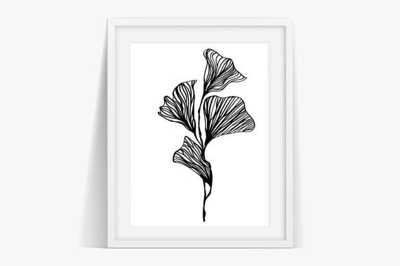 Check out Ginkgo Flower Art Instant Download on janesapple