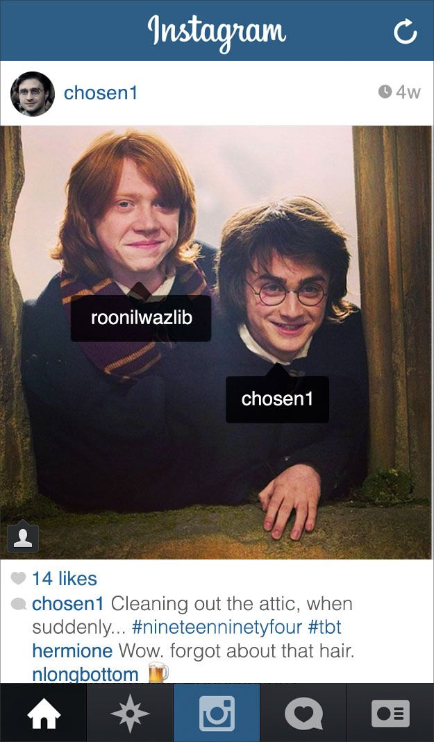 Haha! If Harry Potter had Instagram.