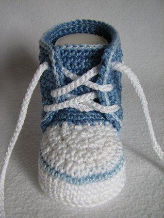 Häkelanleitung Babyschuh Sneaker Strick Pinterest Häkeln