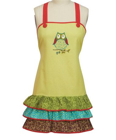 Take A Look At This Owl Wonderful Frill Apron By Kay Dee Designs On #zulily