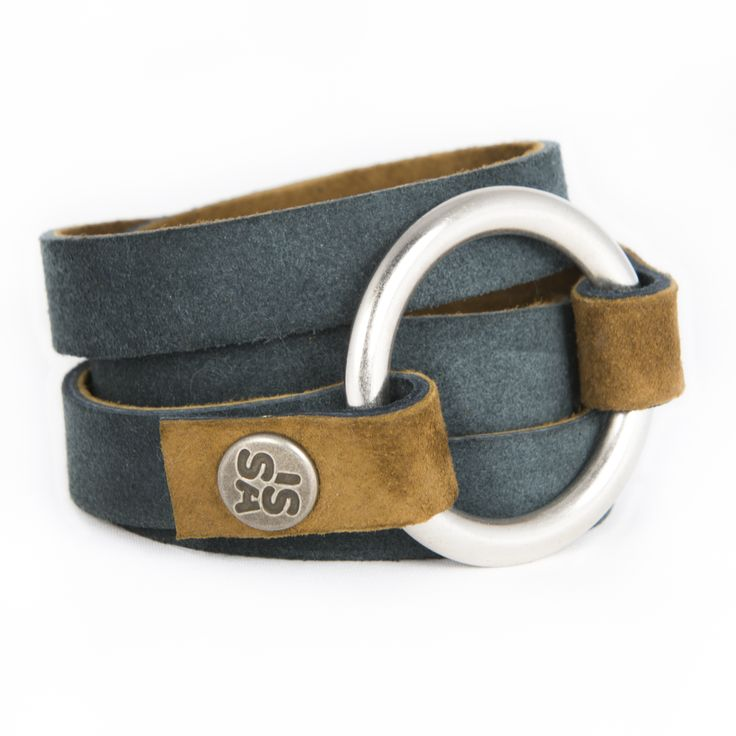 RIngwrap denim €44,50 beautifully handmade leather bracelet and belt! www.issamadeby.nl