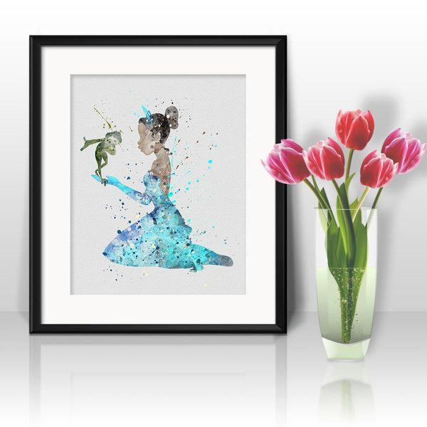 Prints & Posters – Princess Tiana Nursery Disney Print poster Art – a unique product by DigitalAquamarine on DaWanda