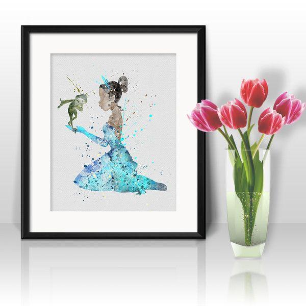 Prints & Posters – Princess Tiana Nursery Disney Print poster Art – a unique product by DigitalAquamarine on DaWanda