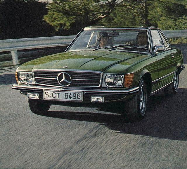 Mercedes-Benz 450SL (R107), via Flickr.