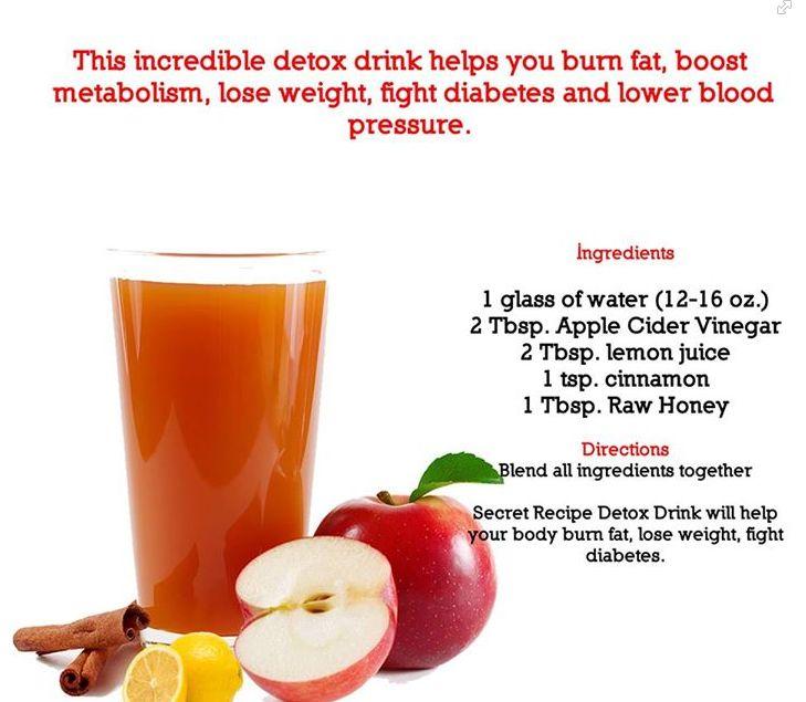 #detoxdrink Apple Cider vinegar + lemon juice + cinnamin + honey burn #bellyfat and raise metabolism