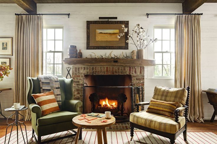 Rustic Wood and Antlers  - CountryLiving.com