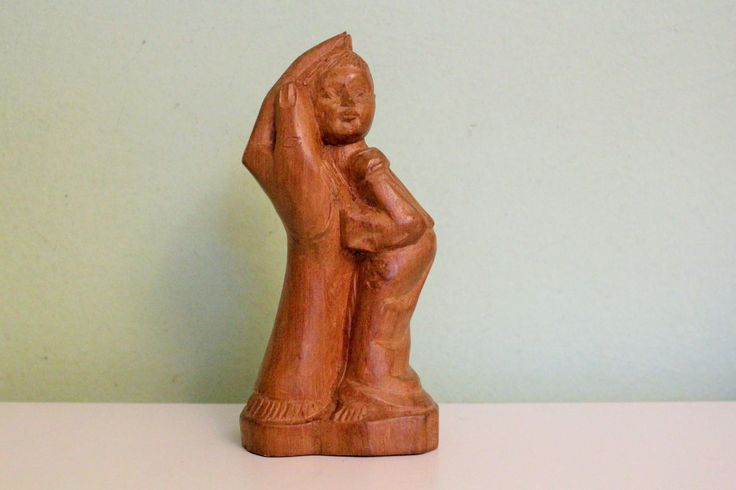 Vintage Carved Wood Hand Holding Child Sculpture Palm of God's Hand Statue Figure Wood Carvings Figurine Religious Art by Grandchildattic on Etsy