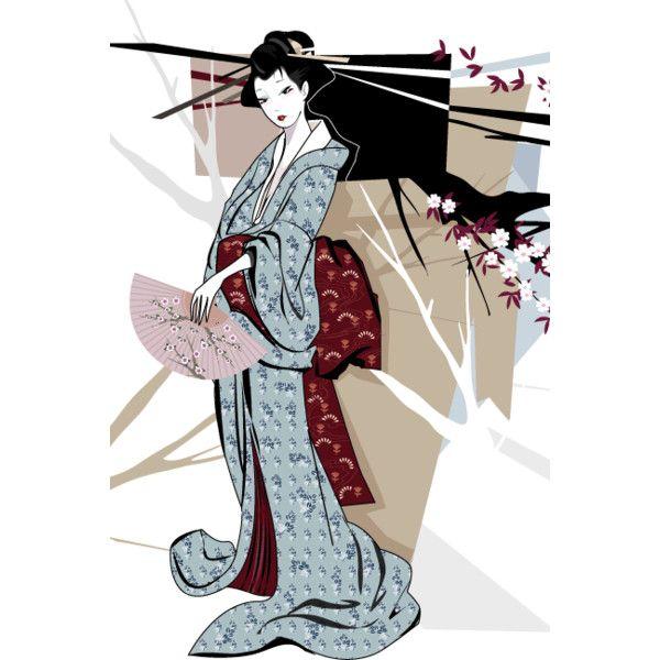 Brain Twisting | Tokidoki [Simone Legno] - Geisha ❤ liked on Polyvore