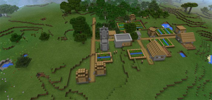 You will spawn near a big woodland mansion and two villages of a plains biome. As you know, it is hard to find Woodland mansions because they are very rare in Minecraft. However, remember that this seed is only compatible with higher 1.1 version. Creator: ChillyKnight As we have mentioned... https://mcpebox.com/woodland-mansion-nearby-spawn-1-1-0-9-seed-minecraft-pe/