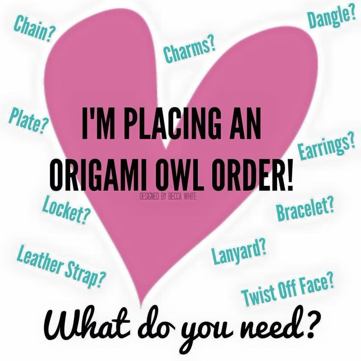 I'm placing an Origami Owl order. What do you need? Social media image #origamiowl #business #tools