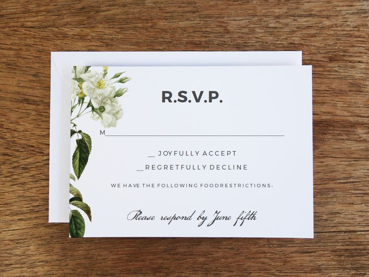 17 best images about wedding rsvp templates on pinterest