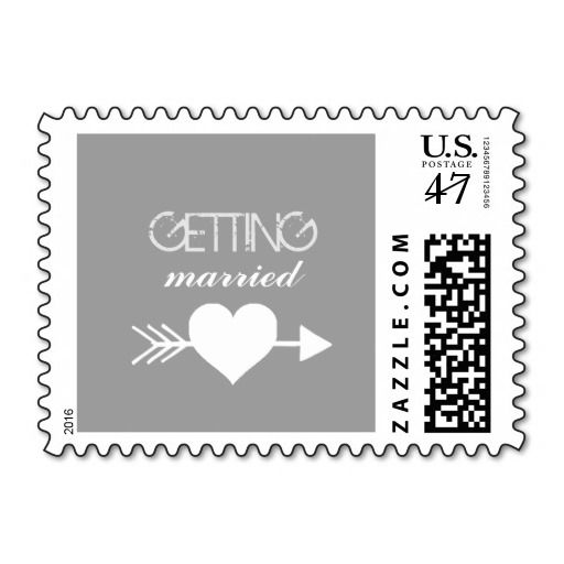 Getting Married Stamp