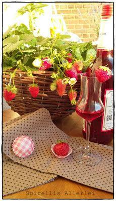 Spirellis Allerlei: {Feuerwasser&Co} Erdbeerlikör-Schnaps-Erdbeeren
