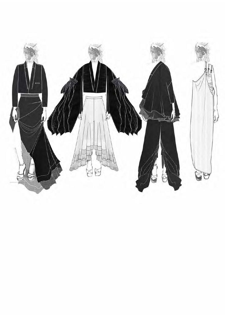 Fashion Sketchbook - fashion illustrations; fashion portfolio // Victoria Rowe