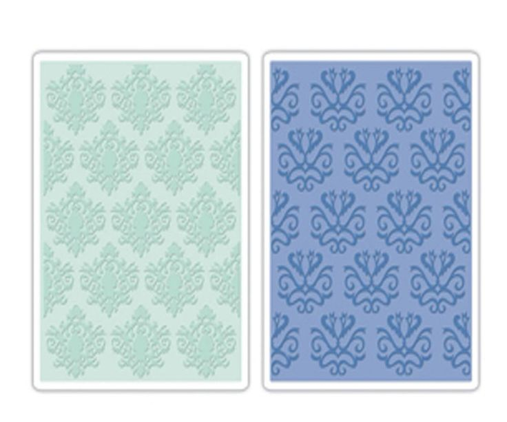 Sizzix Embossing Folders CLASSICAL BEAUTY & BAROQUE  SET - Brand New - Set of 2