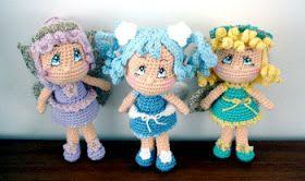2000 Free Amigurumi Patterns: Free Amigurumi crochet pattern for Fairy Dolls