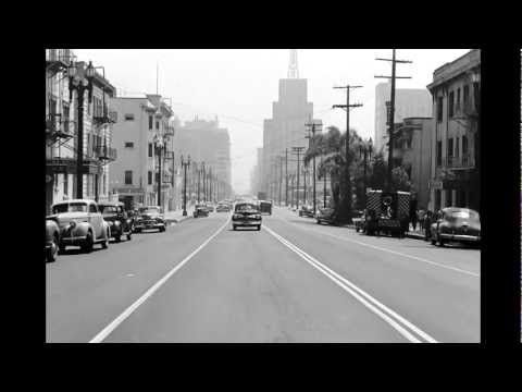 A rare glimpse into c1940 downtown Los Angeles.  Amazing to see how things looked and how much has changed.