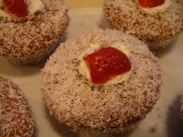 Jam and Coconut cupcake