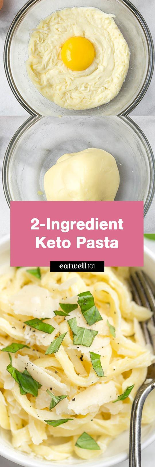 2-Ingredient Keto / Low Carb Pasta Noodles