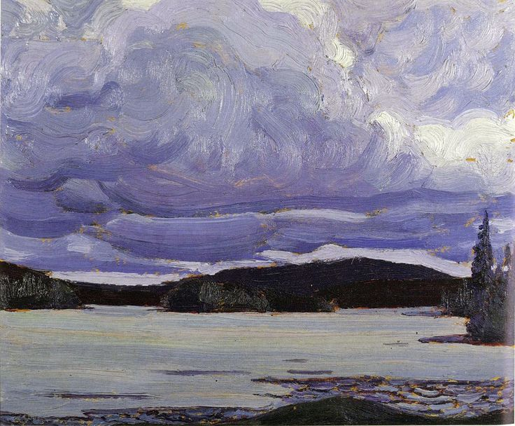 Tom Thomson Catalogue Raisonné | Canoe Lake, Spring 1917 (1917.04) | Catalogue entry
