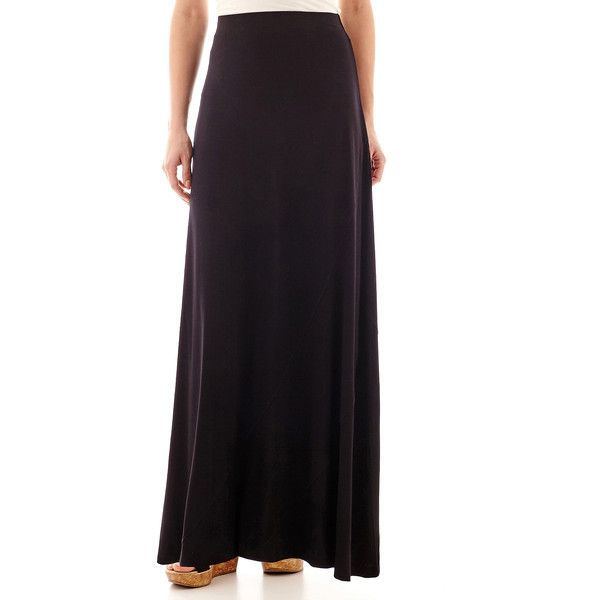 worthington knit maxi skirt black 26 cad liked on