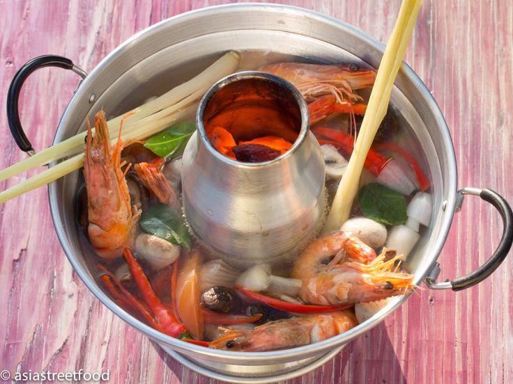 Hier die asiastreetfood Version der Tom Yum Goong Scharf-Saure Garnelensuppe