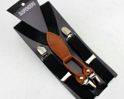 Unisex detské nastaviteľné traky s elastickým pásom, vzor 8