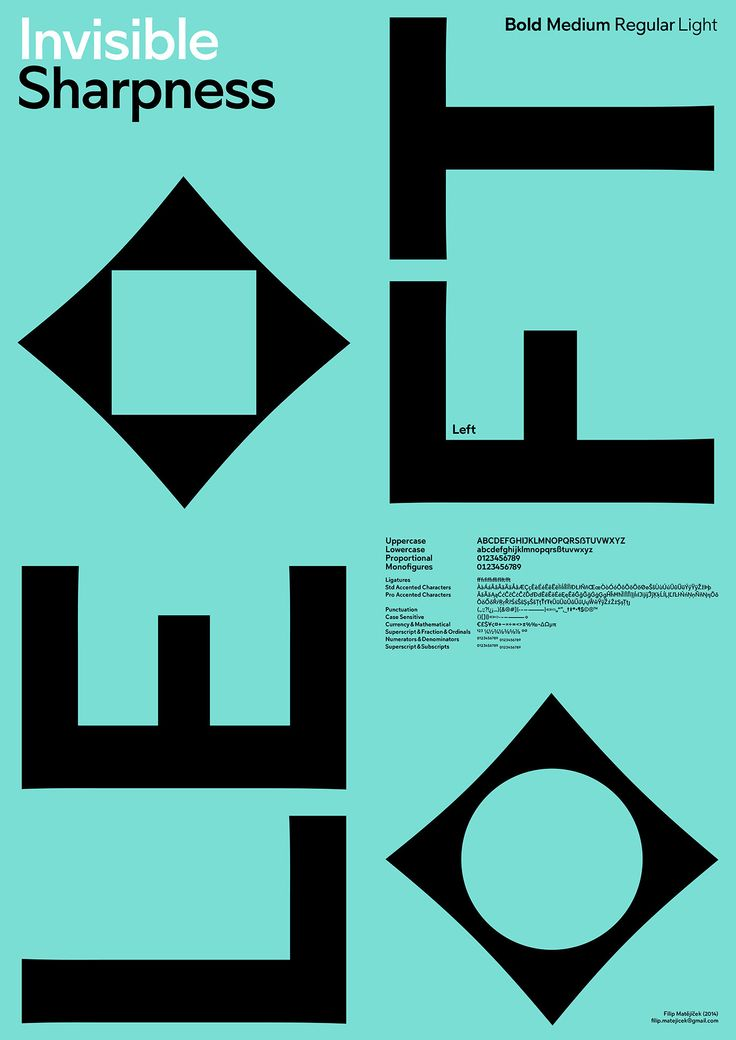 European Design - Left, Agency: Filip Matejicek, Agency URL: http://www.heavyweight.cz, Category: 27. Original Typeface, Award: Silver, Year: 2014, Country: Czech Republic, City: Prague