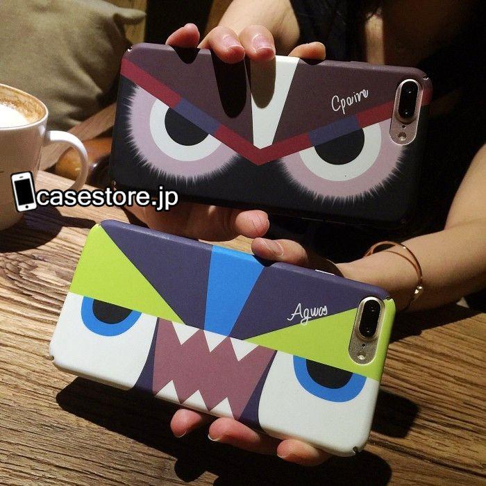 Fendiブランド怪獣モンスター目眼精緑赤いiPhone8/7s/7/7Plusケースカップル向けペア携帯カバー