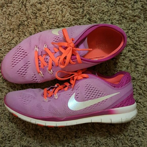 new product 37c36 29387 ... norway casual shoes nike free 5.0 pink and orange nike free 5.0. theyve  only seen
