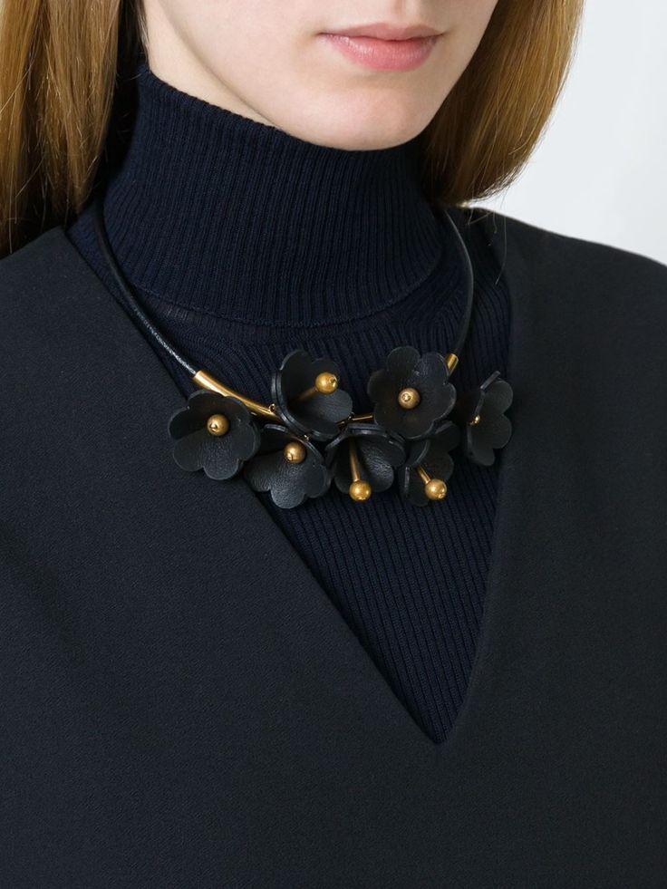 Marni ожерелье с цветочными элементами