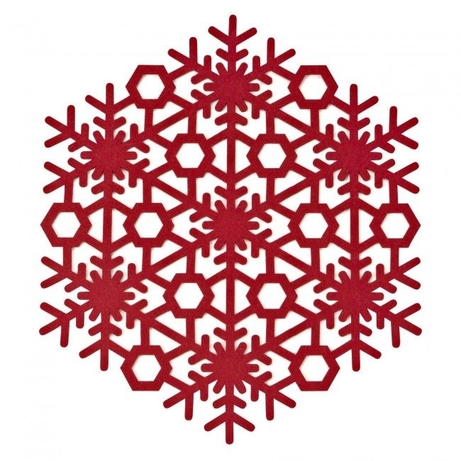 Seat your guests down to Harman Christmas Snowflake Felt Placemats. Experience the intricate detail with this holiday decor staple, sure to set the festive tone at your dinner this season.