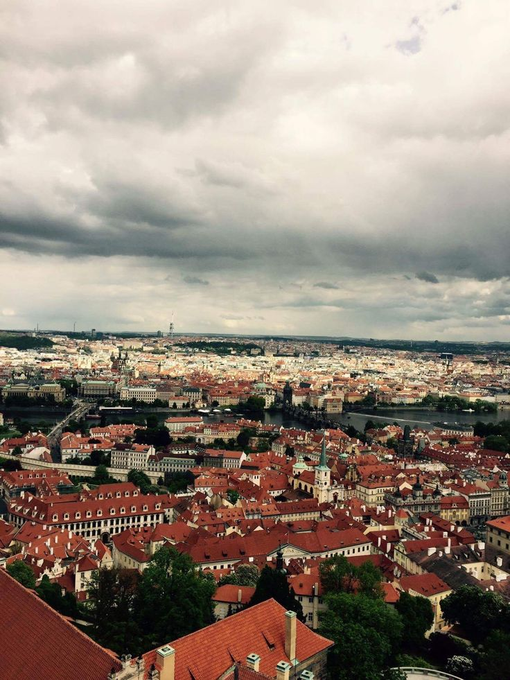 Prague. UNESCO sight. Picturesque view. Rooftops. City of hundred spires.