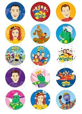 30 x The Wiggles New Generation Edible  Cupcake Toppers (Pre Cut)