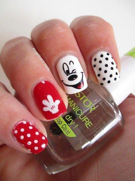 Angelina´s Nails & More: Micky Maus Nägel