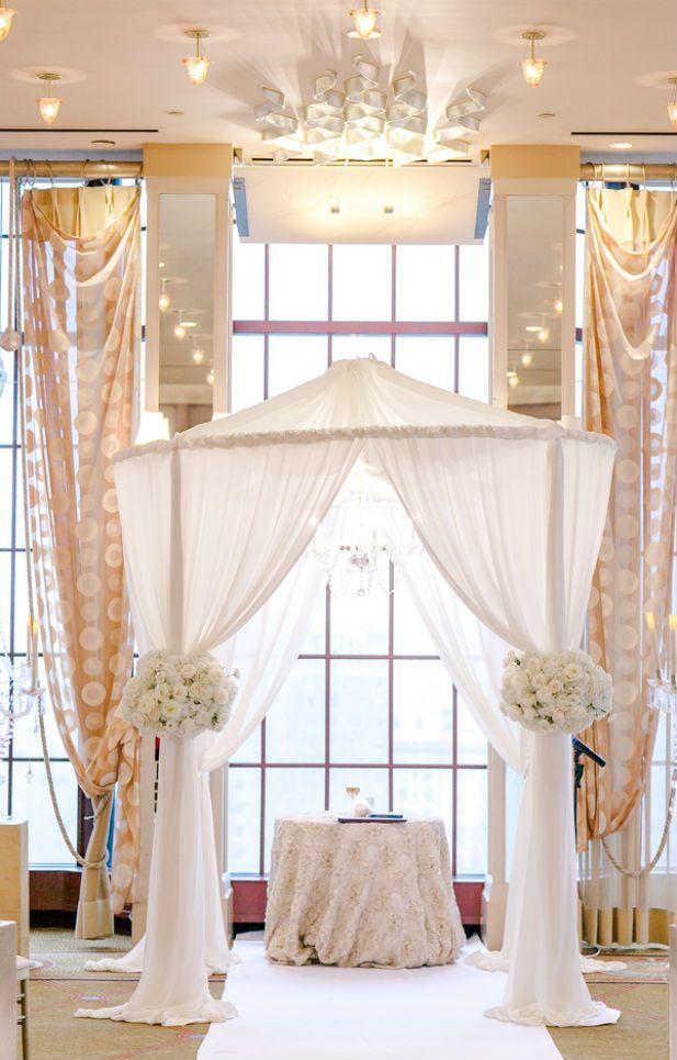 Elegant White Wedding Ceremony at the Westin St. Francis in San Francisco (Photo by Vivian N Photos)