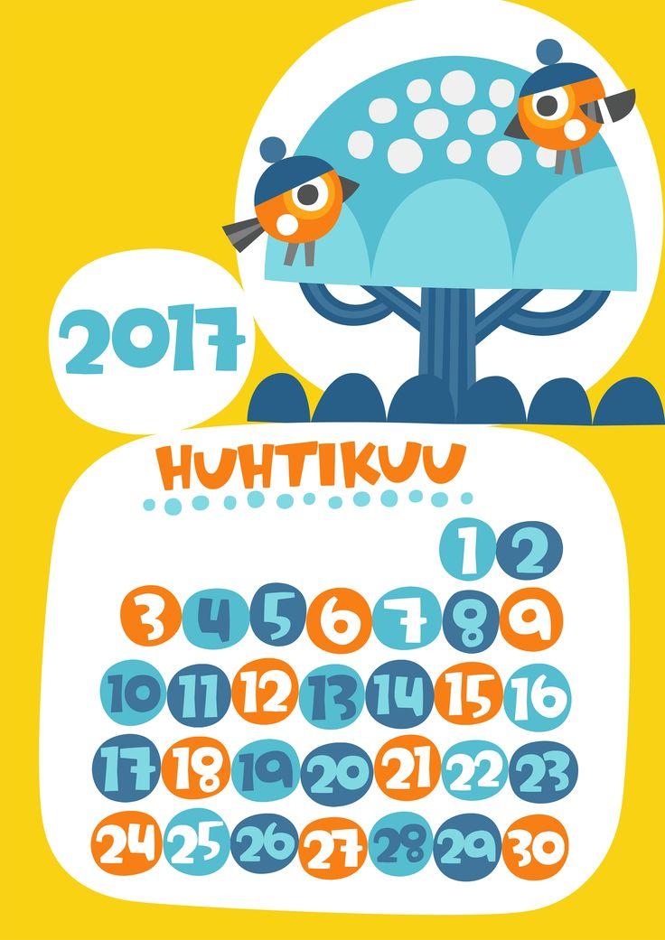 Huhtikuu 2017 | free | printable | pattern | lasten | lapset | askartelu | kalenteri | vuosikalenteri | seinäkalenteri | tulostettava | paperi | koti | sisustus | kids | children | crafts | home | paper | calendar | Pikku Kakkonen