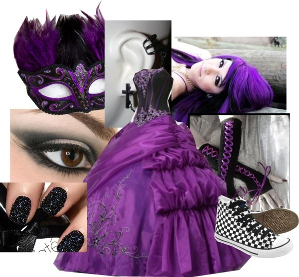 Hot Sale Sweetheart Corset Gothic Purple Wedding Dress: 17 Best Ideas About Emo Wedding Dresses On Pinterest