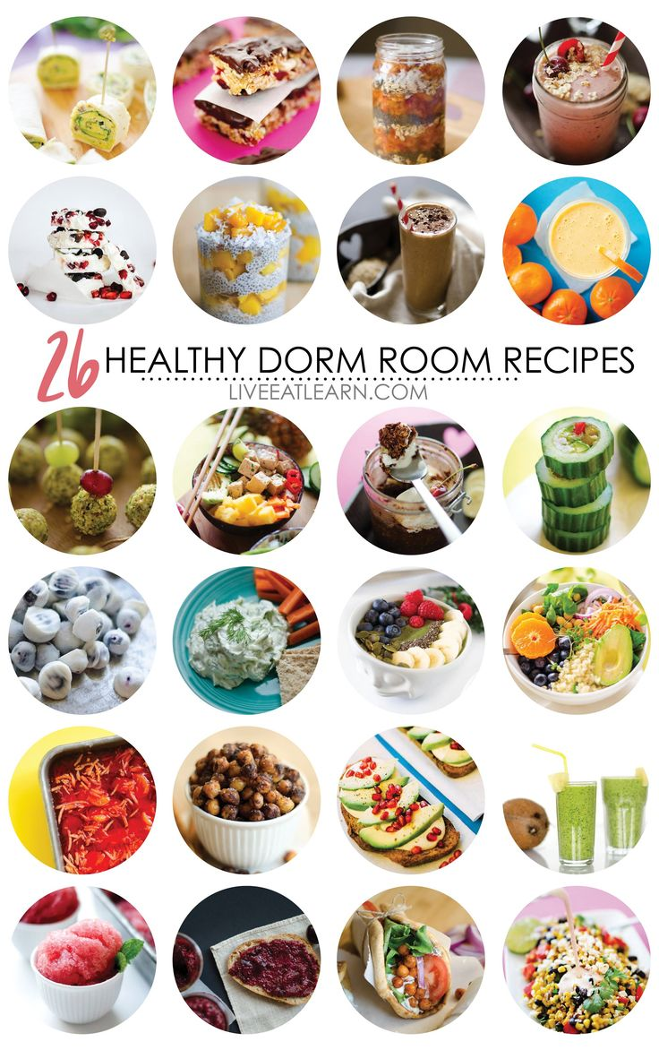 Here are 26 healthy, vegetarian and vegan recipe ideas you can cook in your college dorm room! You don't need a kitchen to make a heathy meal, just a fridge/freezer, microwave, and blender. #PrimeStudent #CG @Amazon via @liveeatlearn