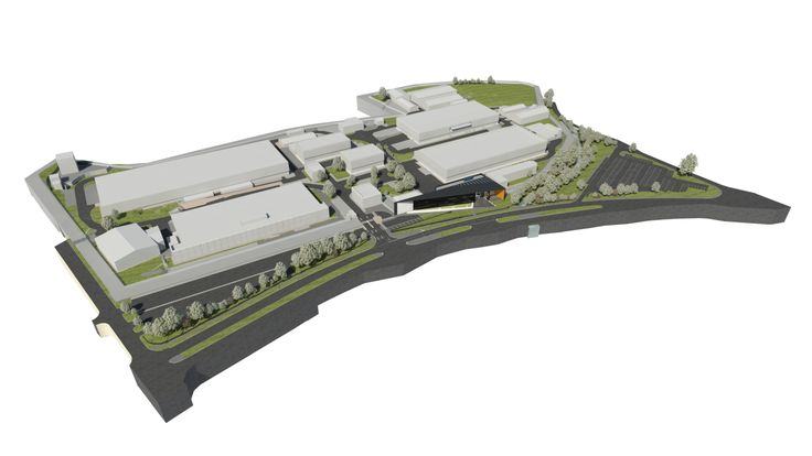 An overview, artist's impression of The Royal Mint Visitor Centre, planned to open in 2015.  http://www.royalmint.com/pre-register/the-royal-mint-visitor-centre