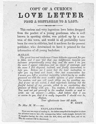 copy of a victorian love letter