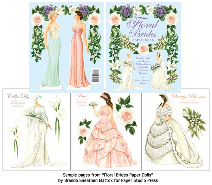 Best Paper Doll Brides And Their Wedding Dress Images On