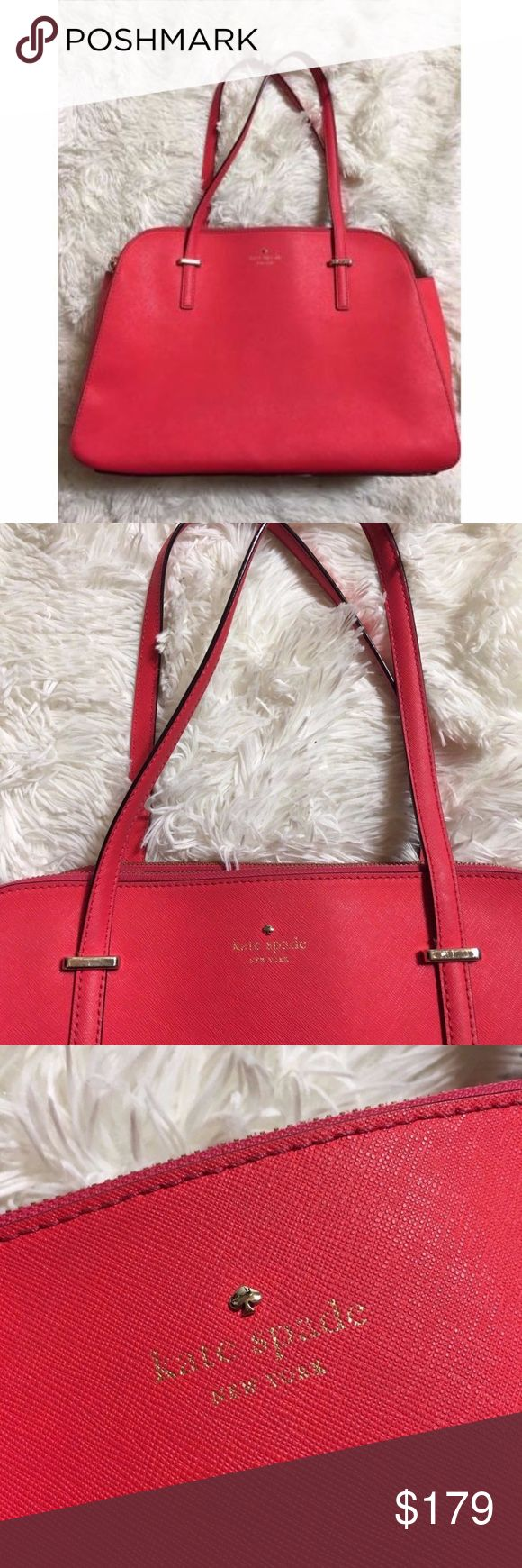Kate Spade Pink Purse Leather Large Bag Satchel Kate Spade Pink Purse Leather Large Bag Satchel Tote Small Laptop Carrier There is one flaw in the corner kate spade Bags Totes