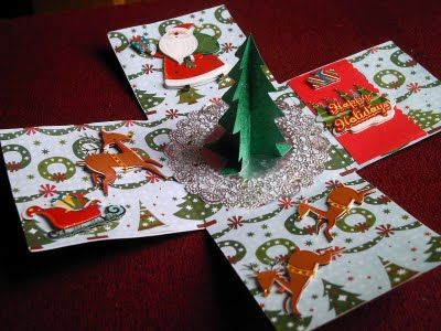 Judy's Handmade Creations: Christmas Explosion Box ... With A Cut File