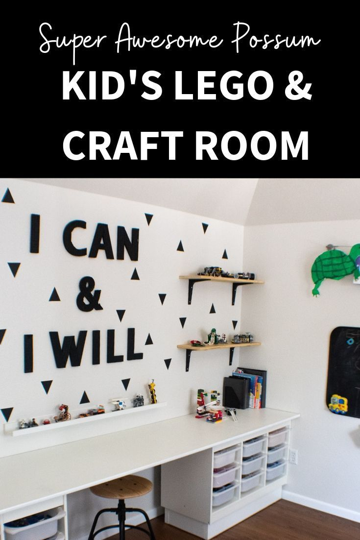 Awesome Kid S Lego And Craft Room With Tons Of Lego Storage And