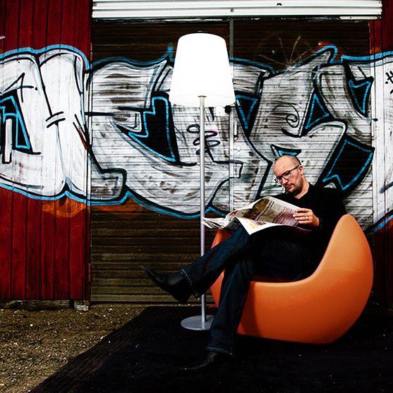 Fotel | Blos by Karim Rashid | pomarańczowy - Makeithome.pl | Loving Creative Solutions