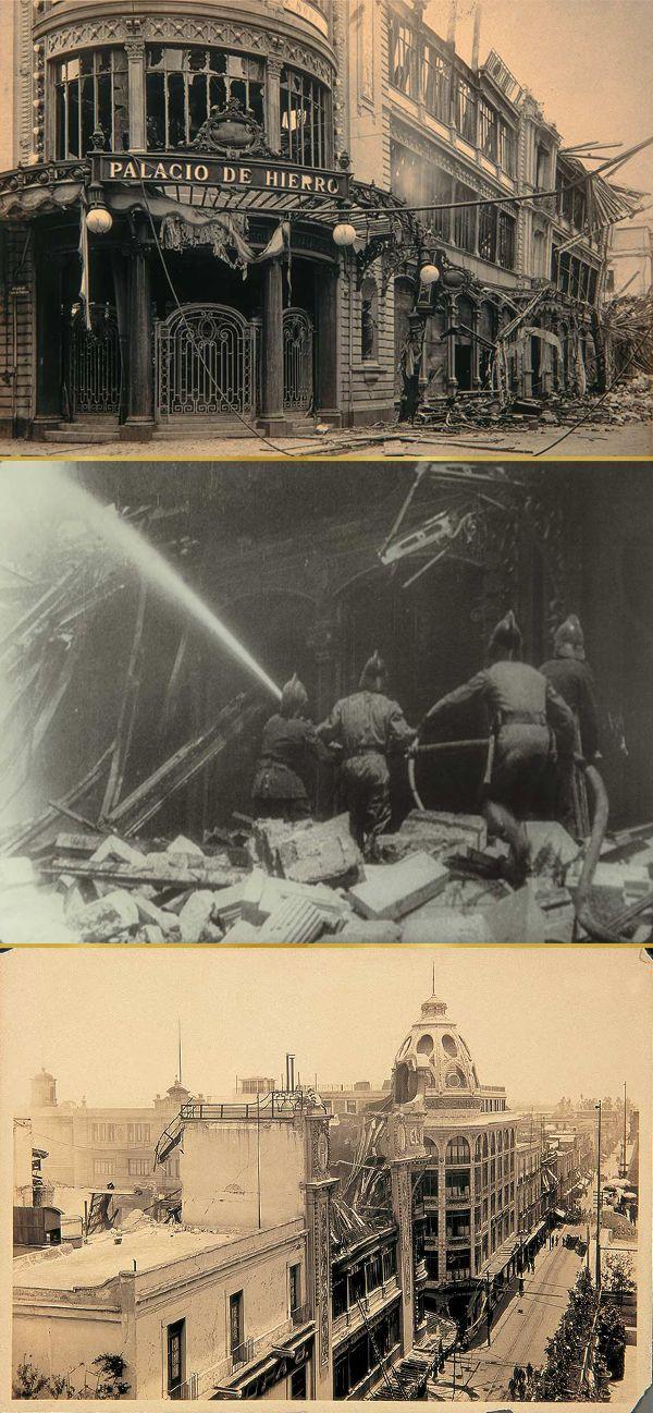 Fue un corto circuito en un aparador el que incendió el almacén del centro, reduciéndolo a escombros. - El Palacio de Hierro
