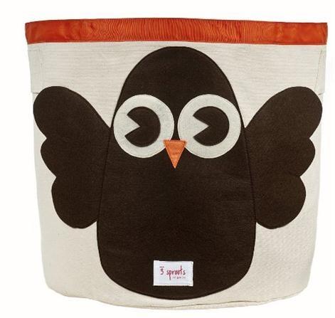 3 Sprouts Storage Bin - Owl, Children's Decor & Storage