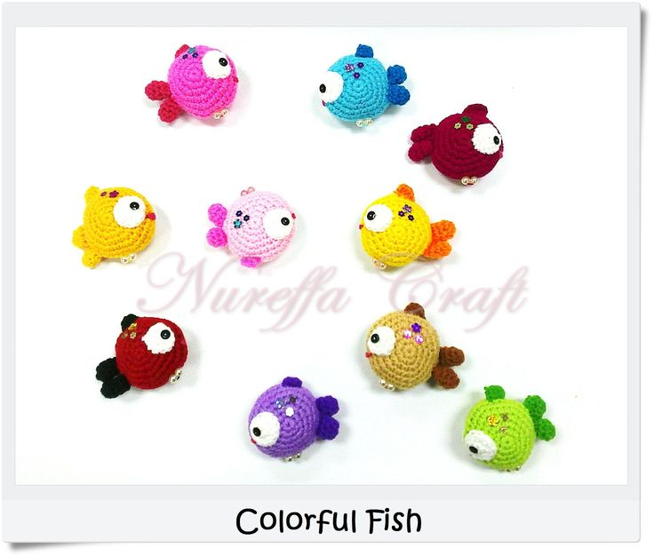 COLORFISH (AMIGURUMI FREE PATTERN)       Materials:   ·  Yarn(s) -    ·  Crochet Hooks - Size 3.0mm   ·  Ya...