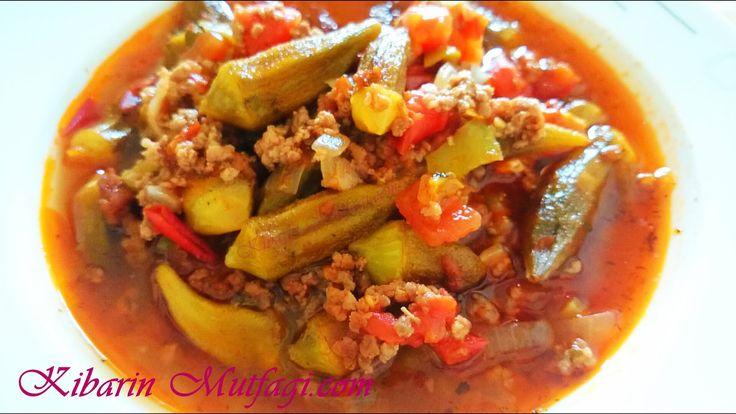 Kıymalı bamya yemeği tarifi - Bamya yemeği nasıl yapılır - Sulu yemek ta...